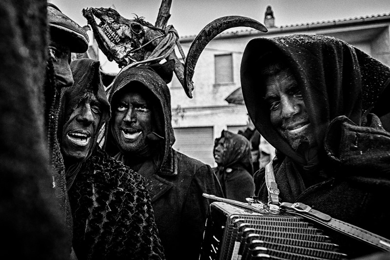 March 2014 - Lula, Sardinia – Italy. Su Battileddu is followed on his way by the Battileddos Gattias, men disguised as widows.
