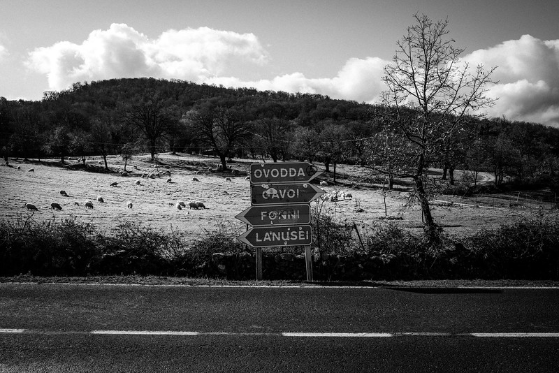 February 2017- Signs near Fonni, Sardinia – Italy.