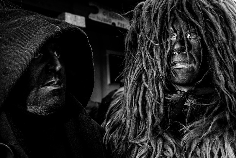 February 2017- Lodine, Sardinia – Italy. S'Urthu (the bear) of Fonni is one of the most spectacular masks of the carnival in Sardinia. It represents the extreme and reckless rebellion against Sos Buttudos, his masters and tamers. Sardinia is the second largest island in the Mediterranean Sea and the most geologically ancient bodies of land in Europe. The island was populated in various waves of immigration from prehistory until recent times. To experience Carnival in Sardinia is a unique and emotion-filled experience.Here we find an age-old ritual relating to the idea of death and rebirth, propitiatory dances and the Dionysus cult. What lives on today is the gestural expressiveness, the rhythm and the anthropomorphic and zoomorphic representations disguised as goats, bulls, stags and wild boars.