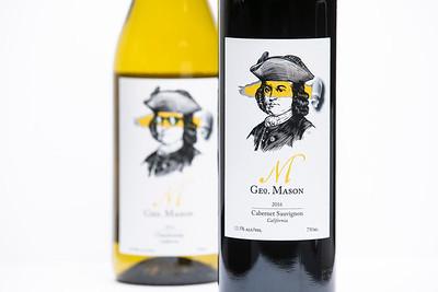 George Mason Wine Bottles.  Photo by:  Ron Aira/Creative Services/ George Mason University