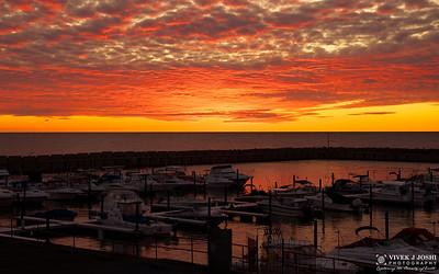 Sunset At Lake Erie