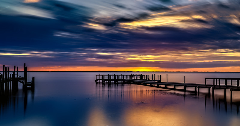 Long exposure sunset