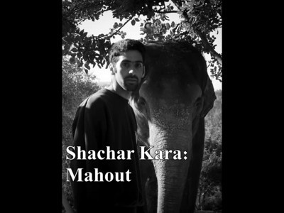 "Shachar Kara has been passionately caring for the elephants at the Jerusalem Biblical Zoo for three years and wishes for many more.  L'arrivee by Ehma  שחר קארה מטפל בתשוקה בפילי גן החיות התנ""כי בירושלים מזה שלוש שנים ומאחל לעצמו עוד שנים רבות"