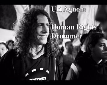Uri Agnon conducts the Samba drummers in Sheikh Jarrah protesting the injustice he sees in Israeli policy  אורי עגנון מנצח על מתופפי הסמבה בשיח ג'ראח כמחאה נגד העוולות שהוא מוצא במדיניות הממשלה