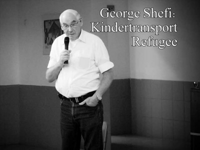 "George Shefi escaped direct Nazi brutality as a seven-year-old kindertransport refugee. The price he paid was the loss of his mother to the horrors, roaming the globe alone and reuniting with his father for the first time only at the age of thirty-four. In just a few years since George left Germany the  Nazis had killed nearly 1.5 million children. George passionately dedicates his time to educate younger generations, before, as he puts it, ""all survivors will be gone and then history will be rewritten to suit someone's PhD"".   With thanks to Harel High School, Mevasseret Zion   ג'ורג' שפי ניצל מאכזריות נאצית ישירה כפליט בקינדרטרנספורט בגיל שבע וחצי. המחיר ששילם היה אובדן אימו לזוועות, התגלגל בגפו ברחבי העולם והתאחד עם אביו לראשונה רק בגיל שלושים וארבע. תוך שנים ספורות מעזיבתו את גרמניה רצחו הנאצים כמיליון וחצי ילדים. ג'ורג' מקדיש את זמנו בתשוקה לחינוך הדור הצעיר מכיוון שלדבריו ברגע שיילך לעולמו הניצול האחרון ההיסטוריה תעוות בכדי להתאימה לדוקטורט של מישהו    בתודה לבי""ס תיכון הראל, מבשרת ציון"