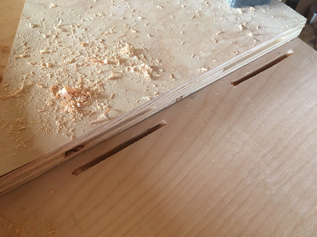 Biscuits for front cabinets