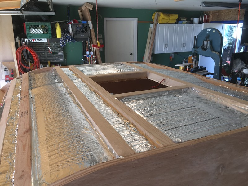 """Reflectix insulation added over the 1/2"""" foam"""