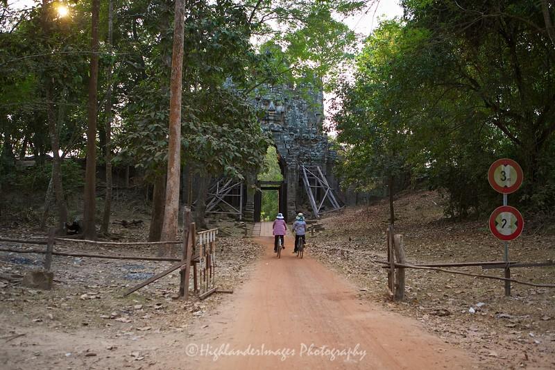 Angkor Thom West Gate, Siem Reap, Cambodia