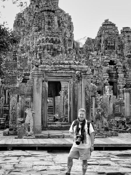Stuart Taylor at The Bayon, Cambodia, November, 2007