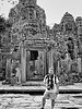 Stuart Taylor at The Bayon, Cambodia, November, 2007