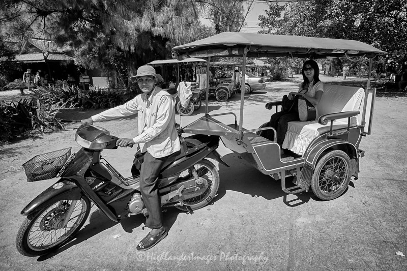 My trusty remork-moto taxi driver No. 5224 in Siem Reap, Cambodia, November, 2007