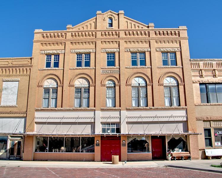 Anson Opera House in Jones County, Anson, TX (Oct 2015, HDR)