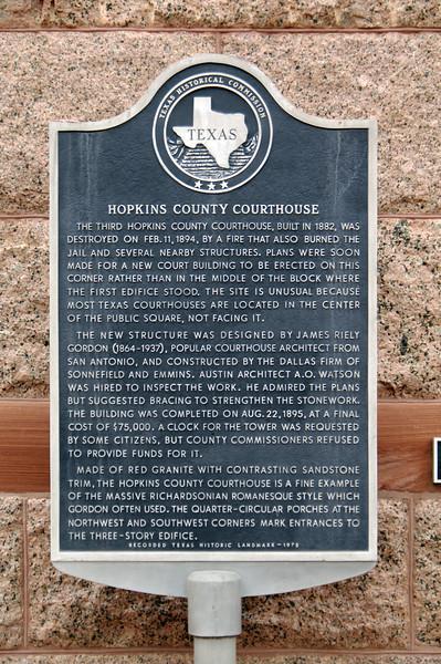 Hopkins County Courthouse, Sulphur Springs, TX (Mar 2014)