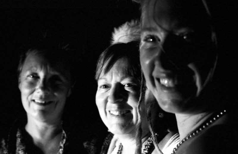 Annie, Kestrel, and Shelby, Burning Man 2007