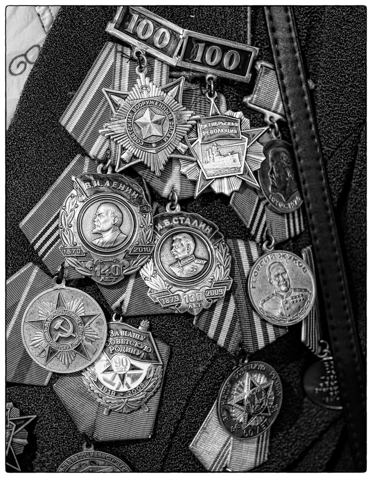 Service Metals honouring previous events as well as battles fought are openly displayed.
