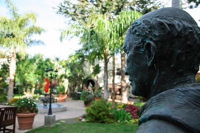 Day 5 and I'm on my 10th Mission , most having this same Junipero Serra statue, and what happens? I come up with a new angle to photograph it from!