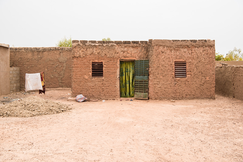 Ouagadougu, Burkina Faso. A healer's medical office in the Ouagadougou suburban township.