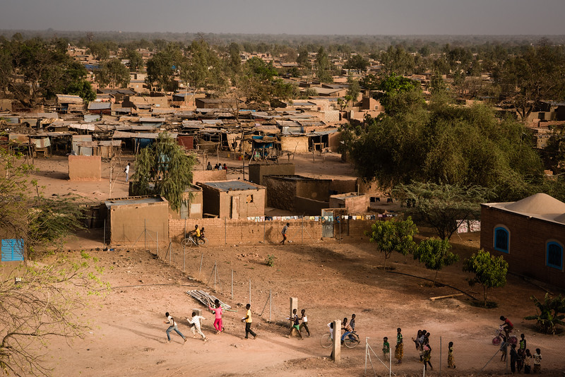 Ouagadougou, Burkina Faso. The slum of Djicofé one of the districts of Ouagadougou, capital of Burkina Faso