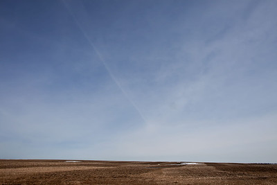 Spring comes to the prairie landscape.