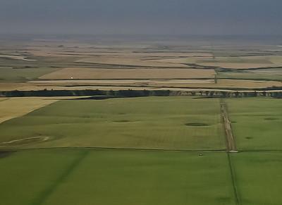 Blocks of land stretching to the horizon.