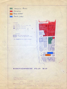 1962, Redevelopment Plan Map