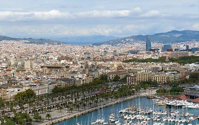 2015 Barcelona - View from Gondola to Montjuic