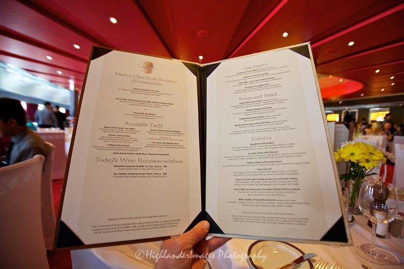 Dinner at the Manhattan Grill, Nieuw Amsterdam, Monte Carlo, Monaco