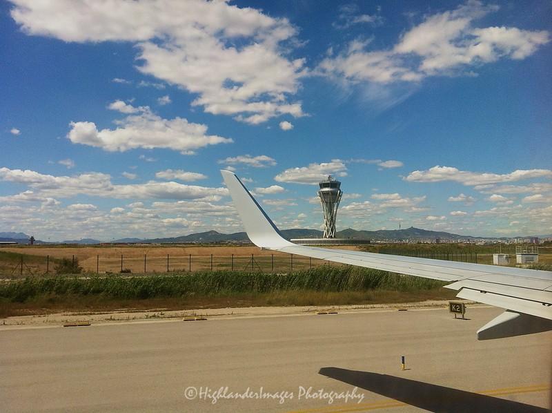 Departing Barcelona, Spain