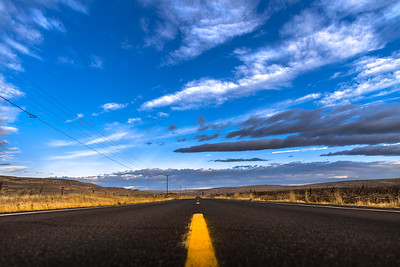 lines on highway 28, Grant County WA