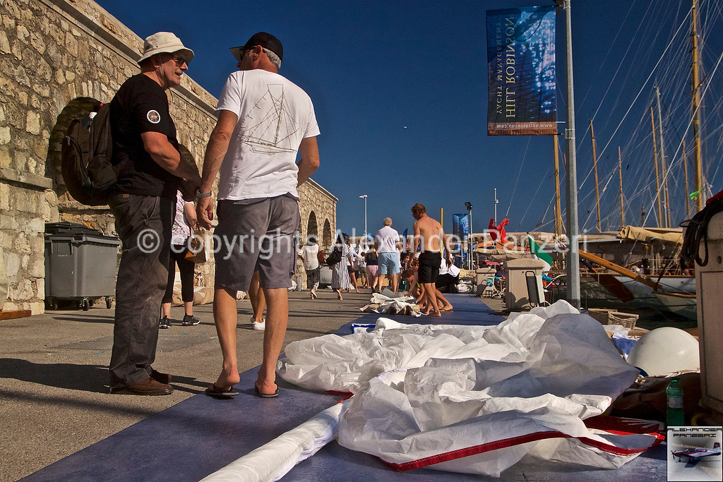 Sails packaging for MARGA F-3 copyright © photo Alexander Panzeri