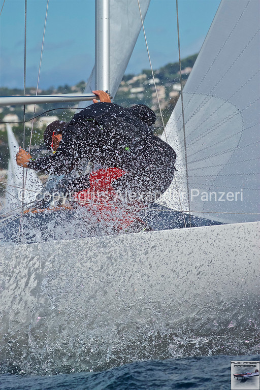 Preparation of the boom and spinnaker at mark 2 copyright © photo Alexander Panzeri