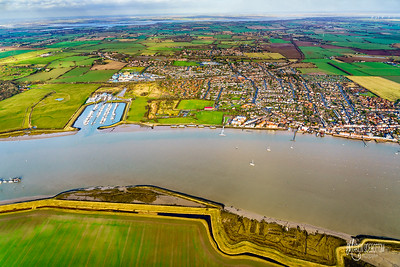 Two Rivers - Burnham-on-Crouch below and River Blackwater in Distance
