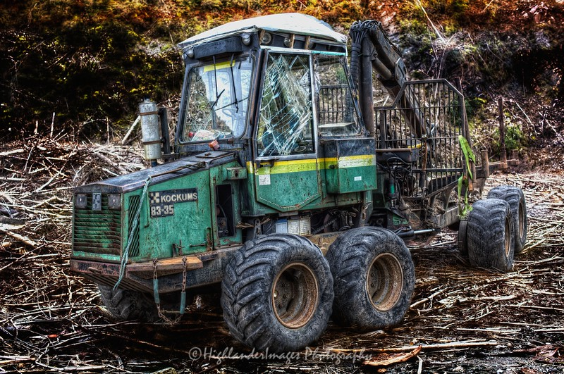 Tractor, Stromeferry, Scotland