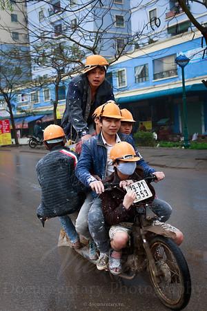 6 men on a motorbike