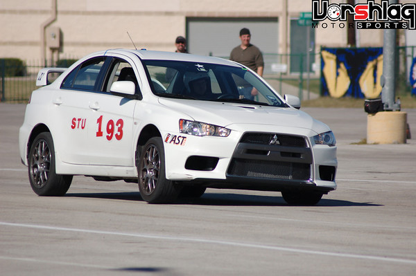 EVO X MR with 100% stock suspension - cornering on Dunlop Direzza Star Specs.  The suspension felt like it was made of marshmallows!