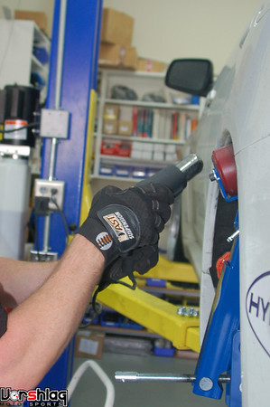 Heat gun is used to keep the paint from cracking