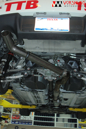 """Here you can see the entire after-cat """"race exhaust"""" setup"""