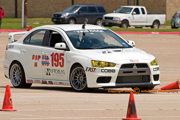 """Amy running the EVO in """"W"""" with the BSP PAX<br /> <br /> Photo Courtesy of Brad Maxcy @ autoXmax Photography"""