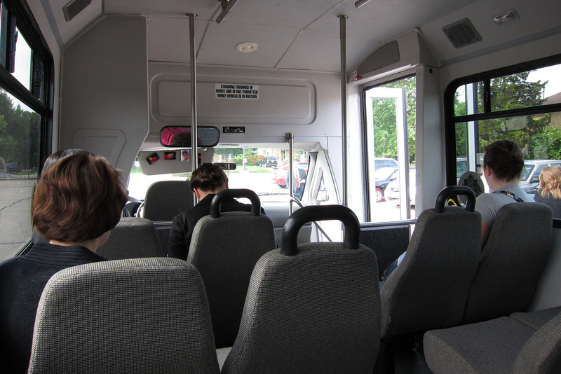 On the bus to the Church