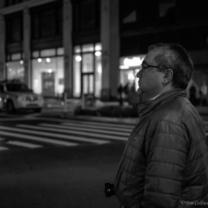 Late night New York City waiting for a cab.