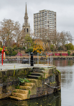 Shadwell Basin with St.Paul's Church