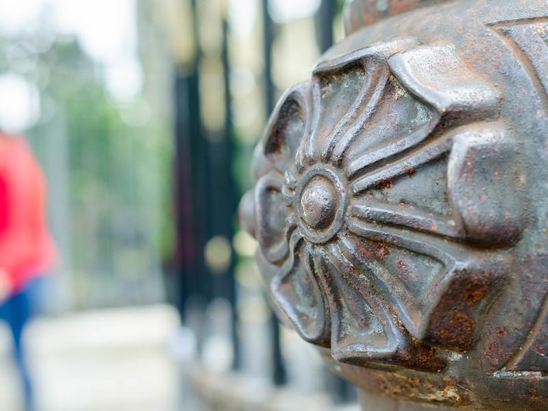 Spitalfields steel post