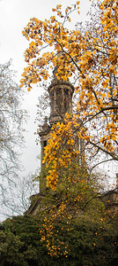 Spire in autumn