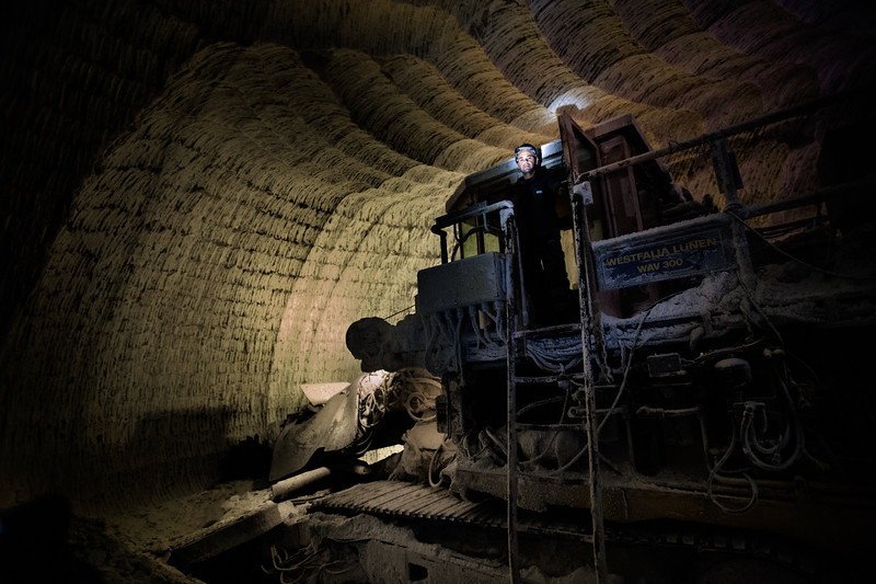 Nella miniera di Racalmuto, Italkali ha a disposizione due frese che operano su livelli diversi in base alle esigenze produttive. Si tratta di strumenti molto costosi (oltre 2.000.000 euro)