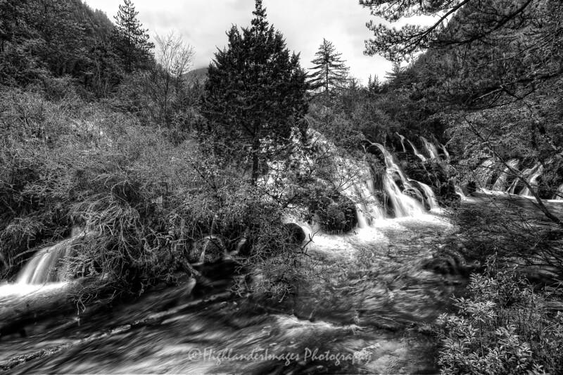 Waterfall close to Reed Lake, Jiuzhaigou