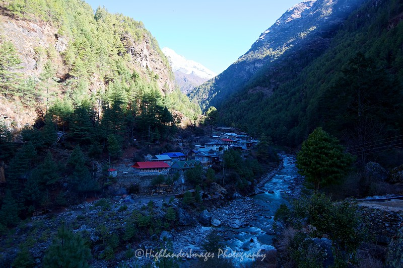 Jorsalle by the Dudh Kosi River in the Khumbu Valley between Monjo and Namche Bazaar.