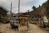 Prayer wheel and Mani stones between Koshigaun village and Phakding