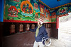 A set of prayer wheels in this building marked the arrival at Tengboche.