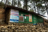 Tea shop at the check in post on the outskirts of Namche Bazaar.