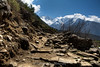 The final approach to Lukla from Monjo.